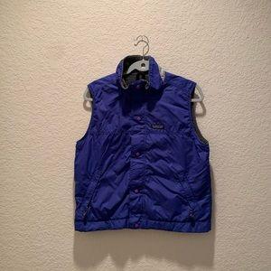 Patagonia girl blue water repellent windproof vest
